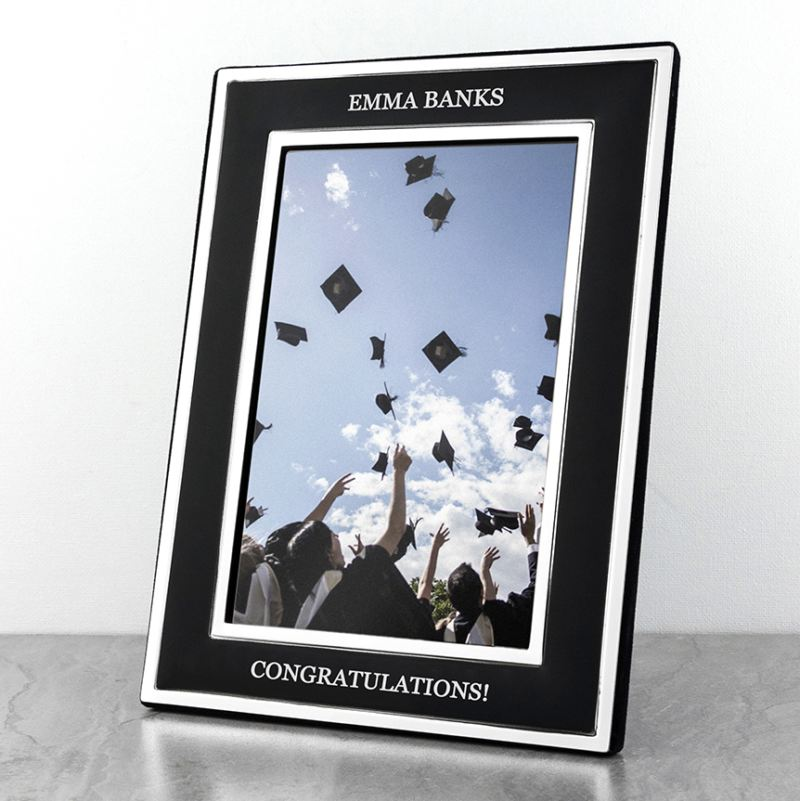 Personalised Silver Plated Graduation Frame The