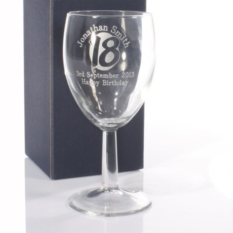 Personalised 18th Birthday Wine Glass product image