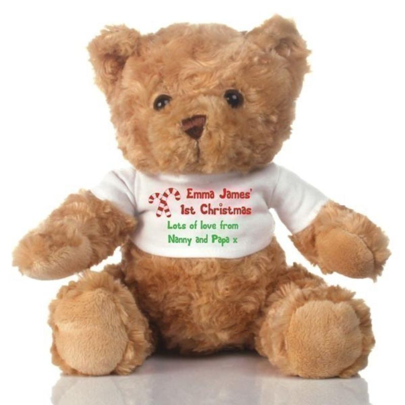 Personalised 1st Christmas Teddy Bear product image