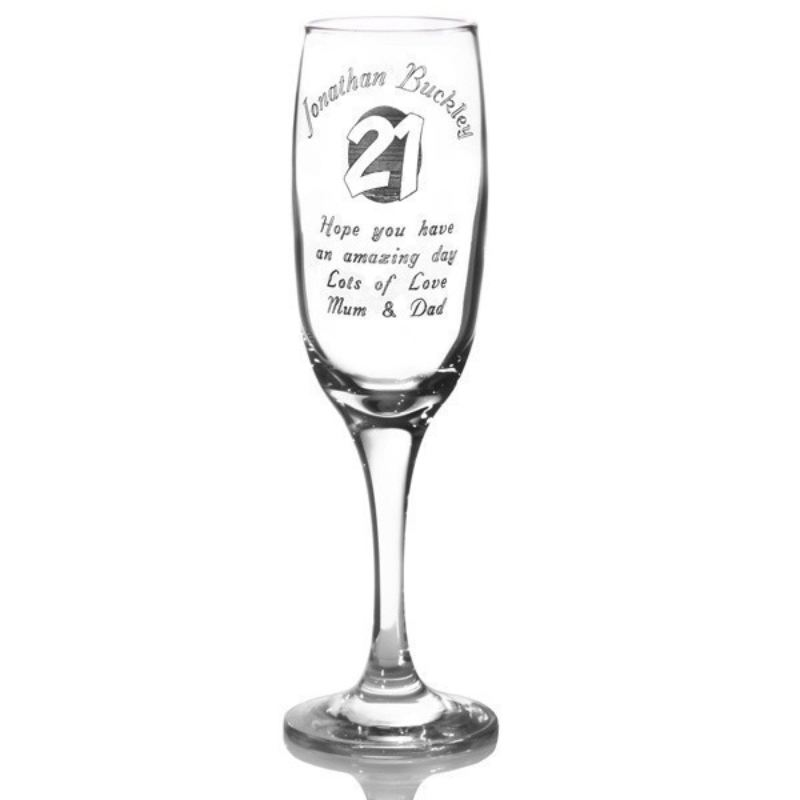 Personalised 21st Birthday Champagne Flute product image