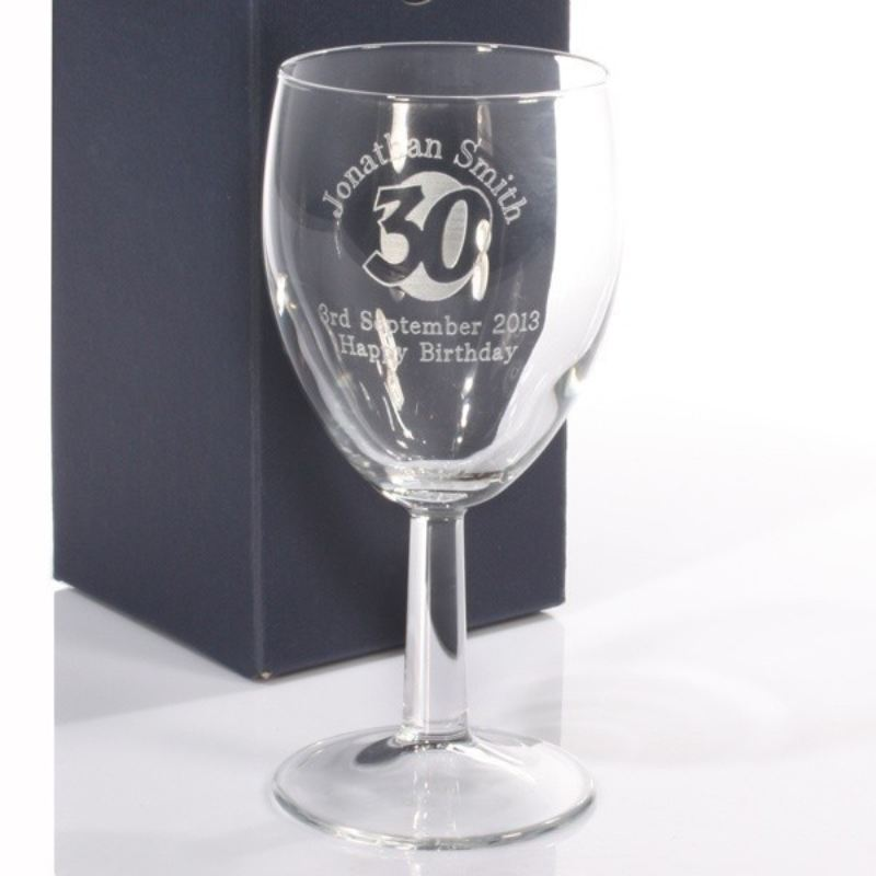 Personalised 30th Birthday Wine Glass product image