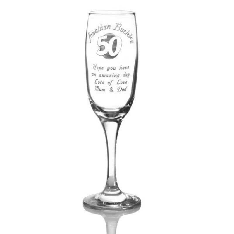 Personalised 50th Birthday Champagne Flute product image