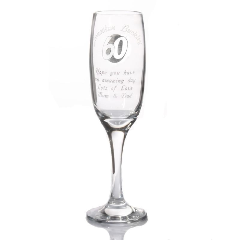 Personalised 60th Birthday Champagne Flute product image