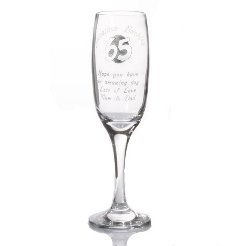Personalised 65th Birthday Champagne Flute product image