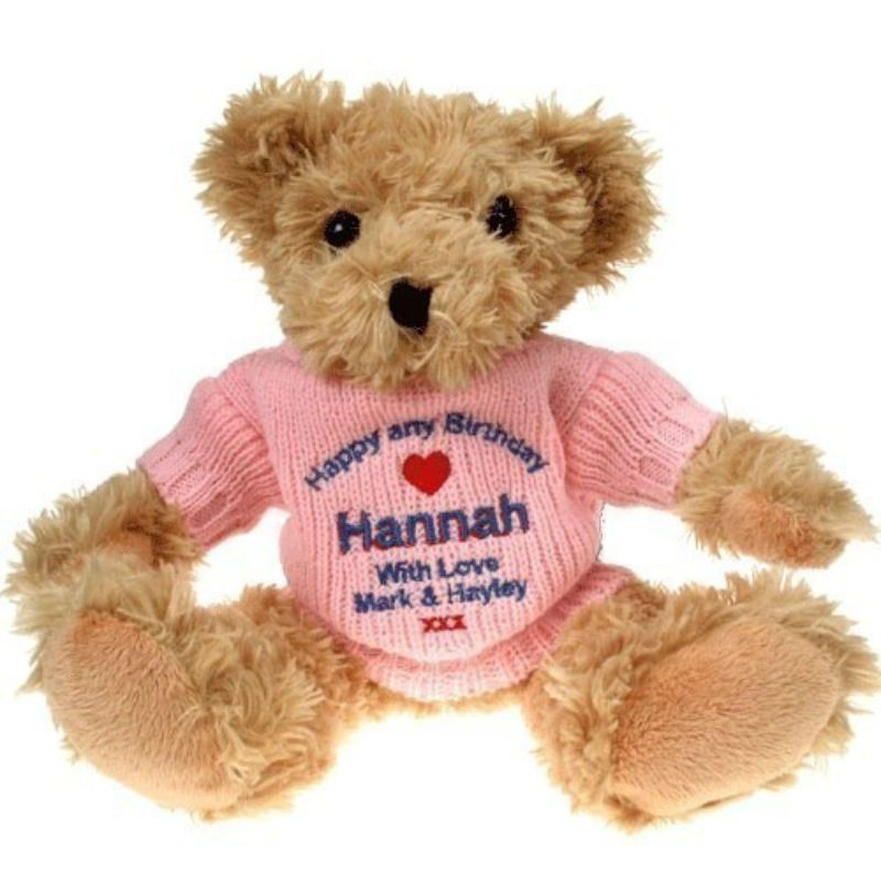 Personalised 70th Birthday Light Brown Teddy Bear product image