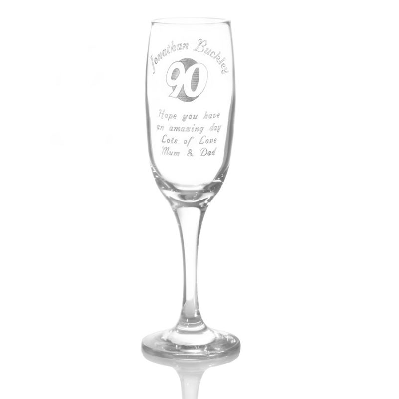 Personalised 90th Birthday Champagne Flute product image