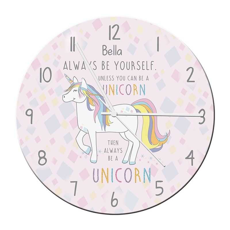 Personalised Always Be A Unicorn Clock product image