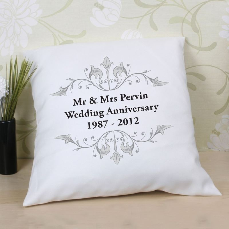 Personalised Anniversary Cushion product image