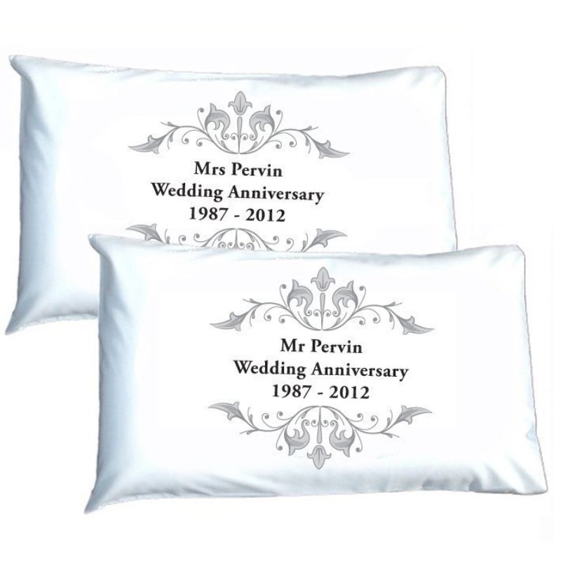 Personalised Anniversary Pillowcases product image