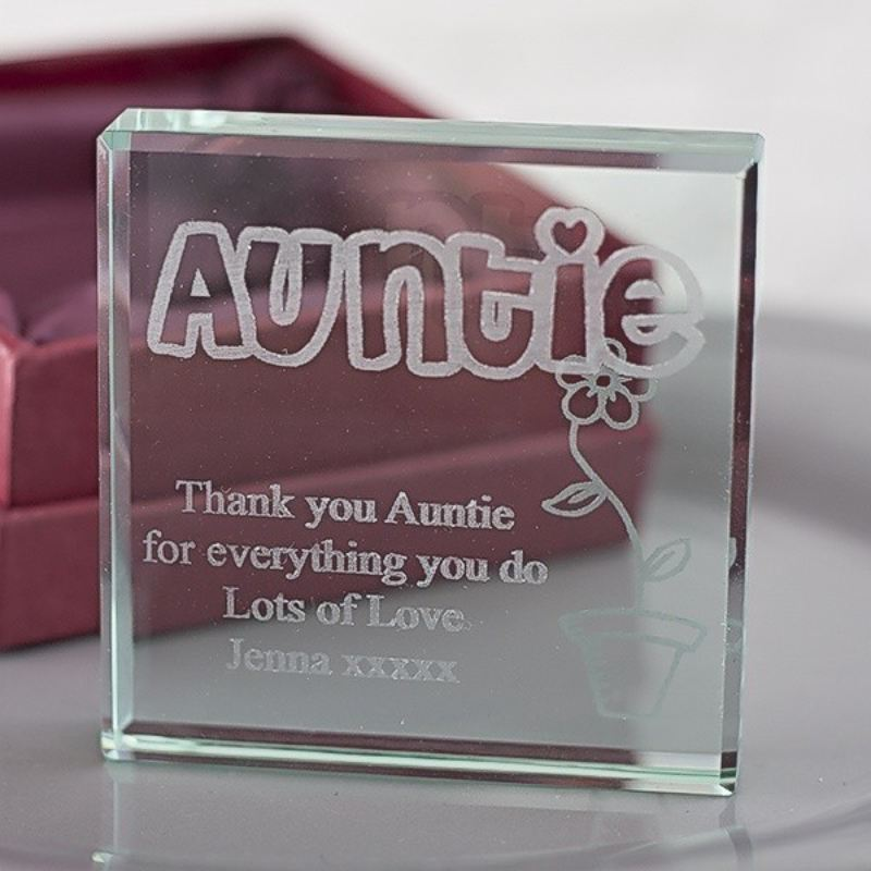 Personalised Auntie Glass Keepsake product image