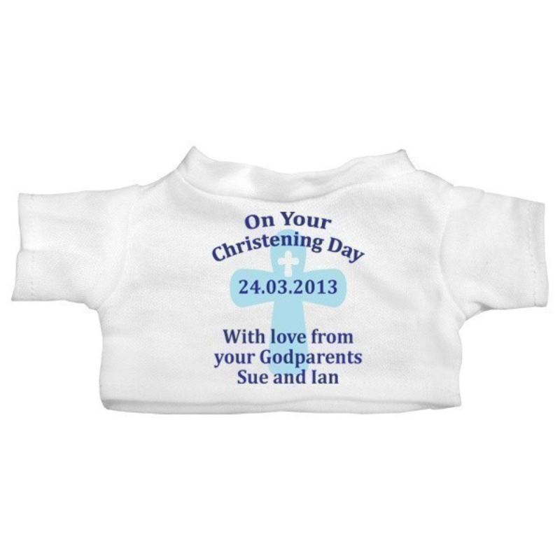 Personalised Baby Boy Christening Day Teddy Bear product image