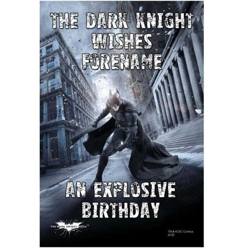 Personalised Batman Birthday Poster product image
