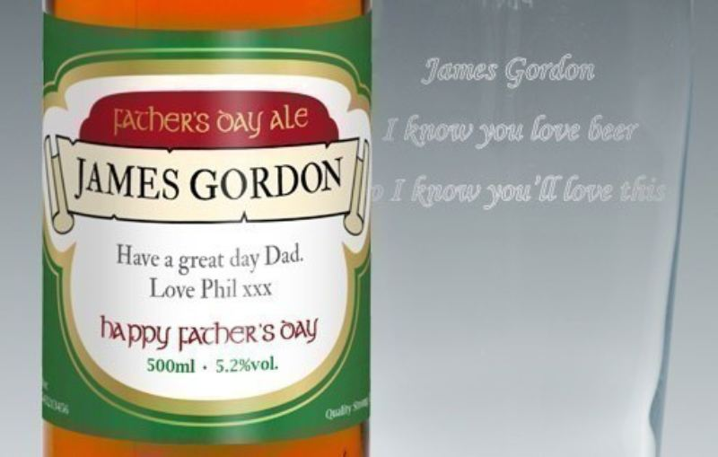 Personalised Beer Label - Father's Day Gift Set product image
