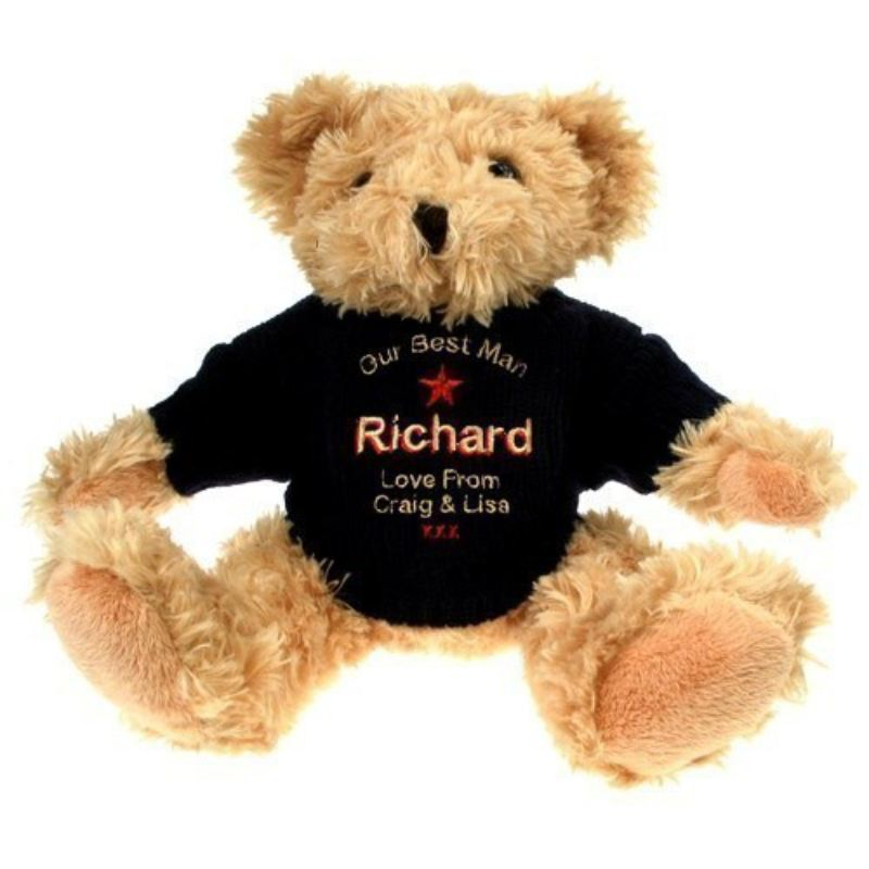 Personalised Best Man Teddy Bear product image