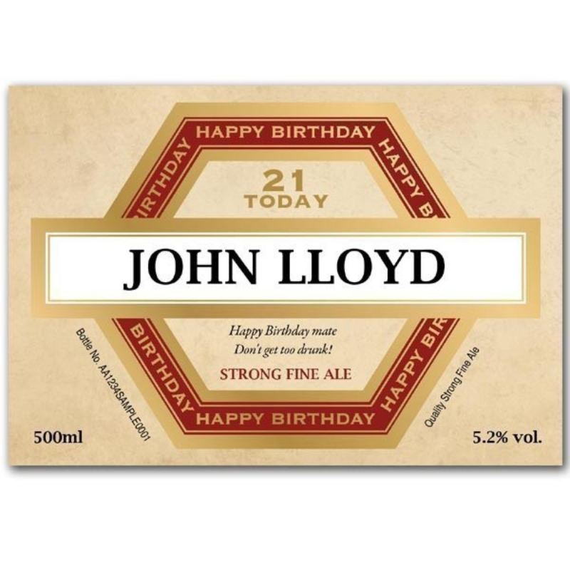 Personalised Birthday Bottle of Beer product image
