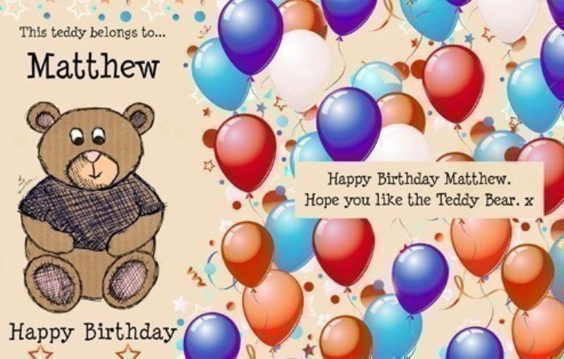 Personalised Birthday Teddy in a tin product image