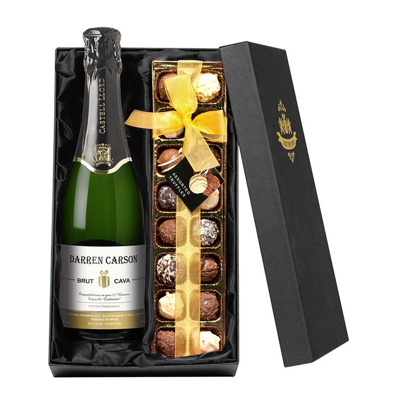Personalised Bottle of Cava and Chocolates product image