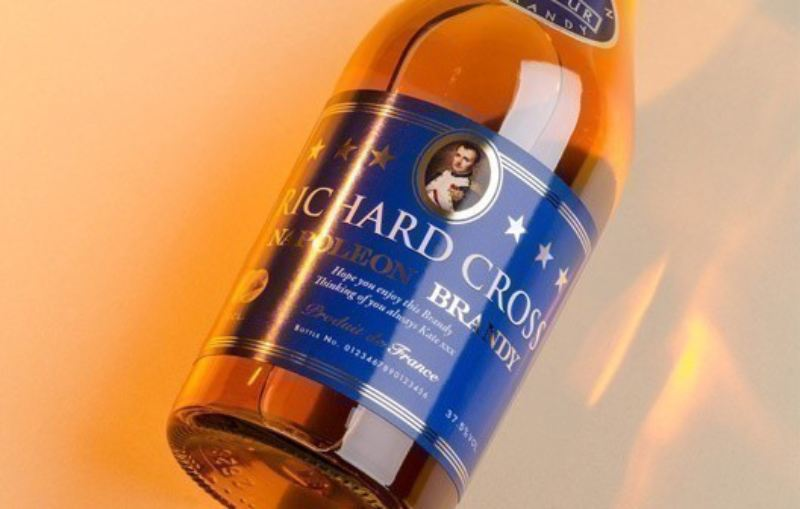 Personalised Brandy with Generic Label in a Premium Silk Box product image