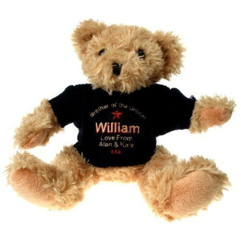Personalised Brother of the Groom Teddy Bear product image