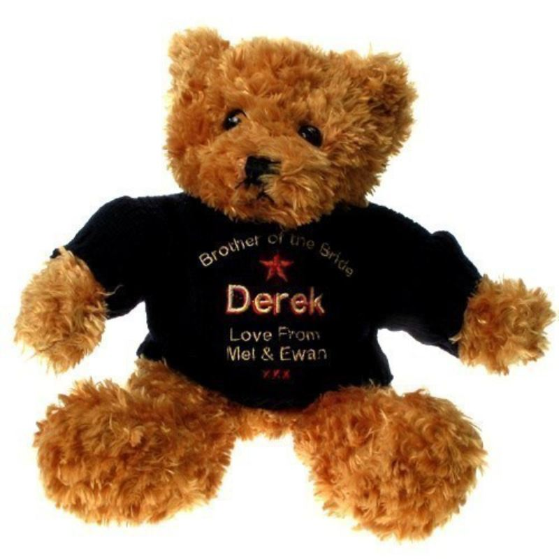 Personalised Brown Brother of the Bride Teddy Bear product image