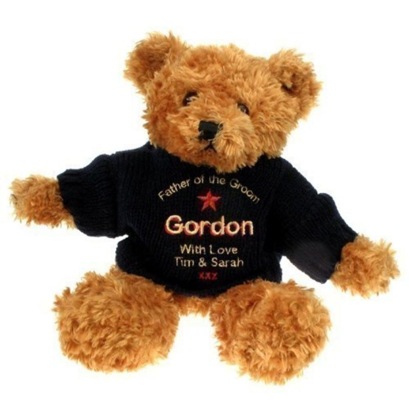 Personalised Brown Father of the Groom Teddy Bear product image