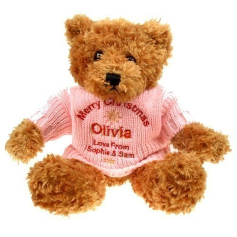Personalised Brown Teddy Bear: Christmas product image