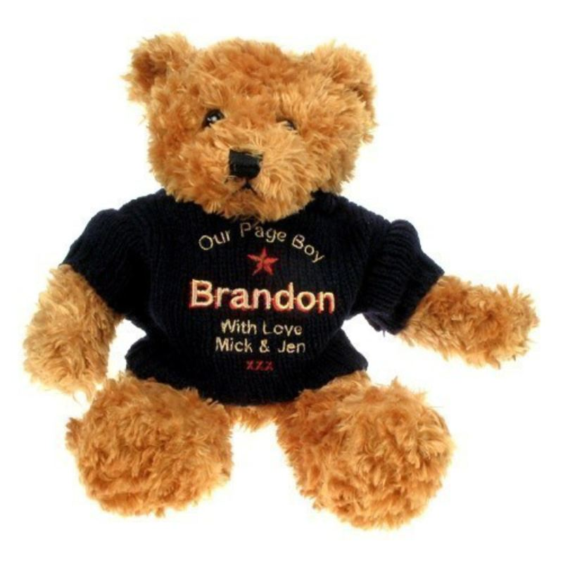 Personalised Brown Teddy Bear for a Page Boy product image