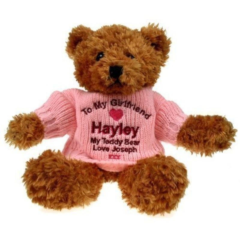 Personalised Brown Teddy Bear: Girlfriend product image