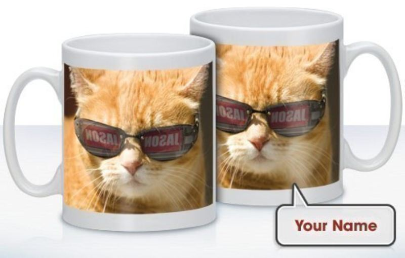 Personalised Cat in Shades Mug product image