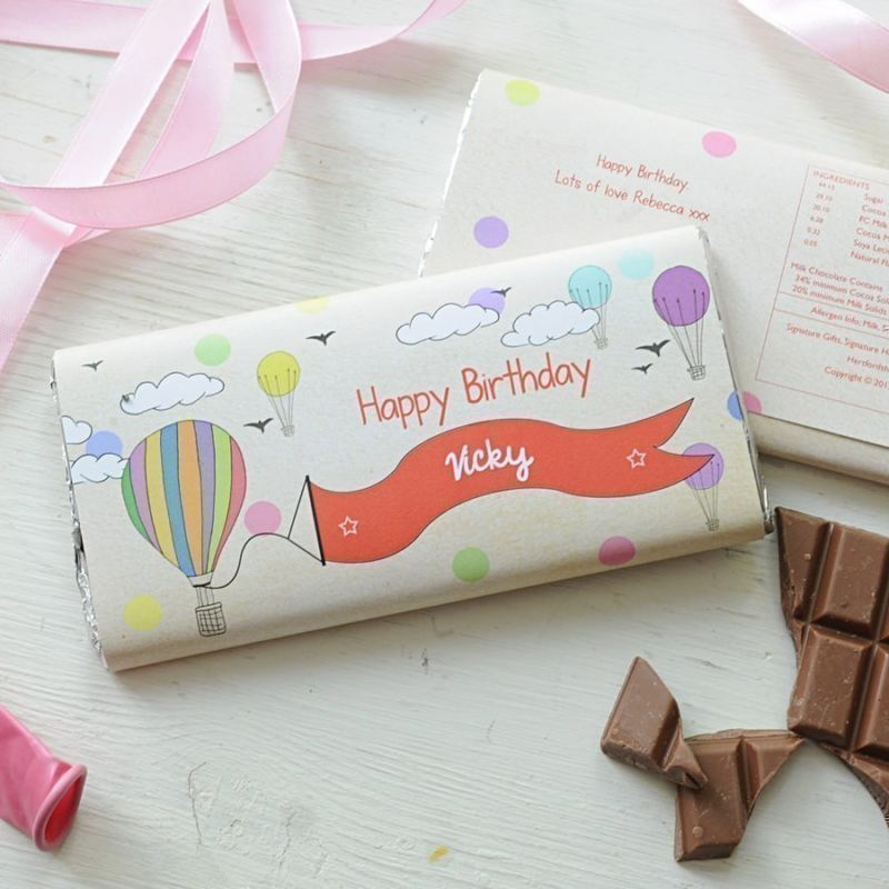 Personalised Childs Birthday Girl Chocolate Bar product image