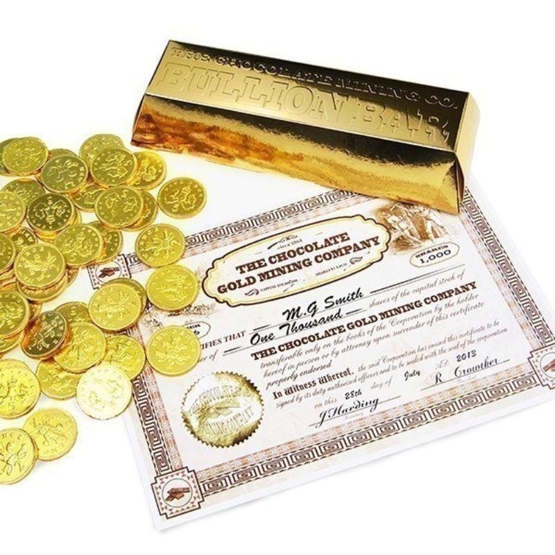 Personalised Chocolate Coin Bullion Bar