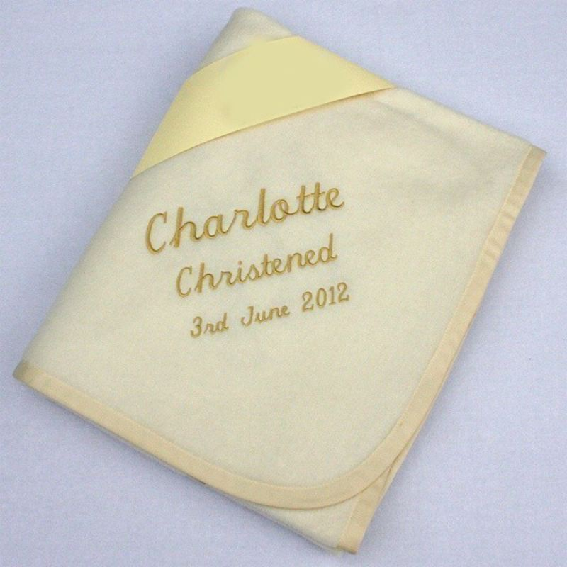 Personalised Christening Blanket product image
