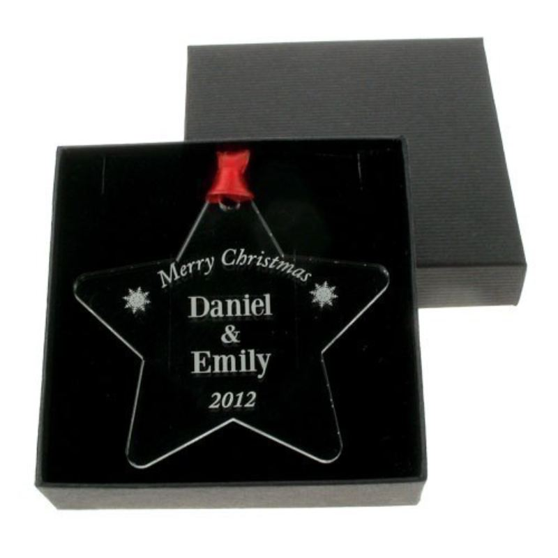 Personalised Christmas Bauble: Couple product image