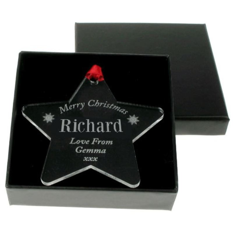 Personalised Christmas Bauble: Name (Male) product image