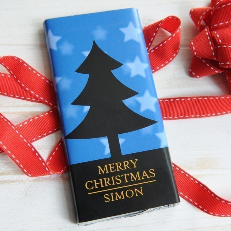 Personalised Christmas Chocolate Bar - Tree product image