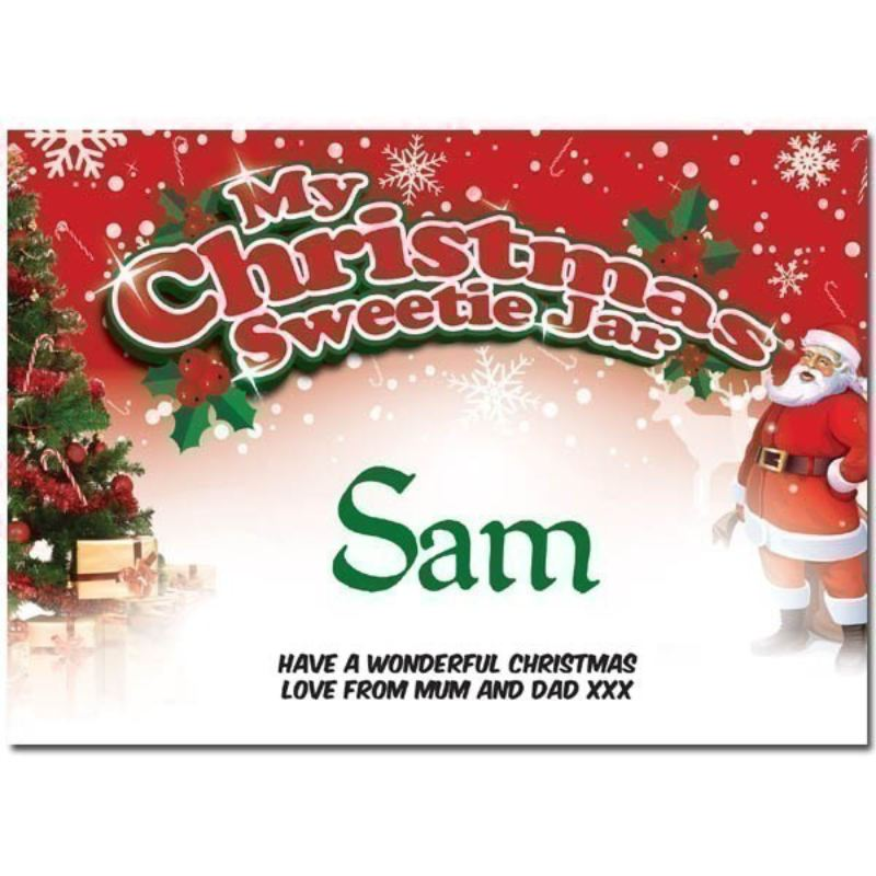 Personalised Christmas Sweetie Jar product image