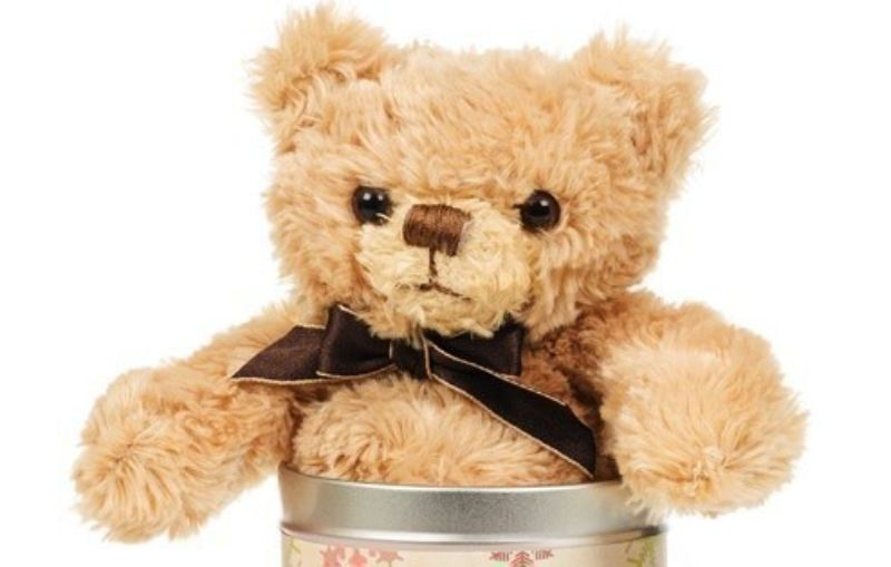 Personalised Christmas Teddy in a tin product image