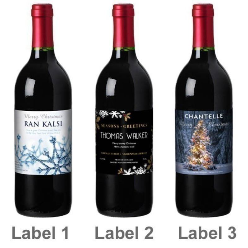 Personalised Christmas Wine product image