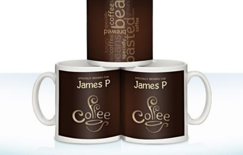 Personalised Coffee Lovers Mug Coffee Bean Design product image