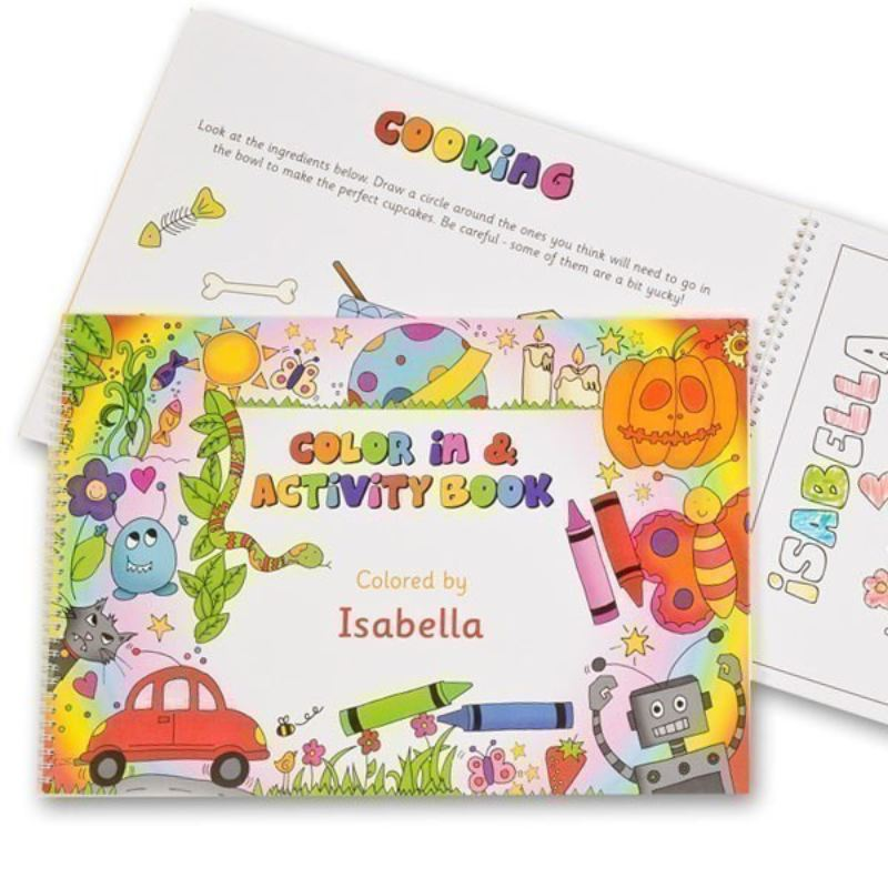 Personalised Colour in Activity Book A4 or A3 product image