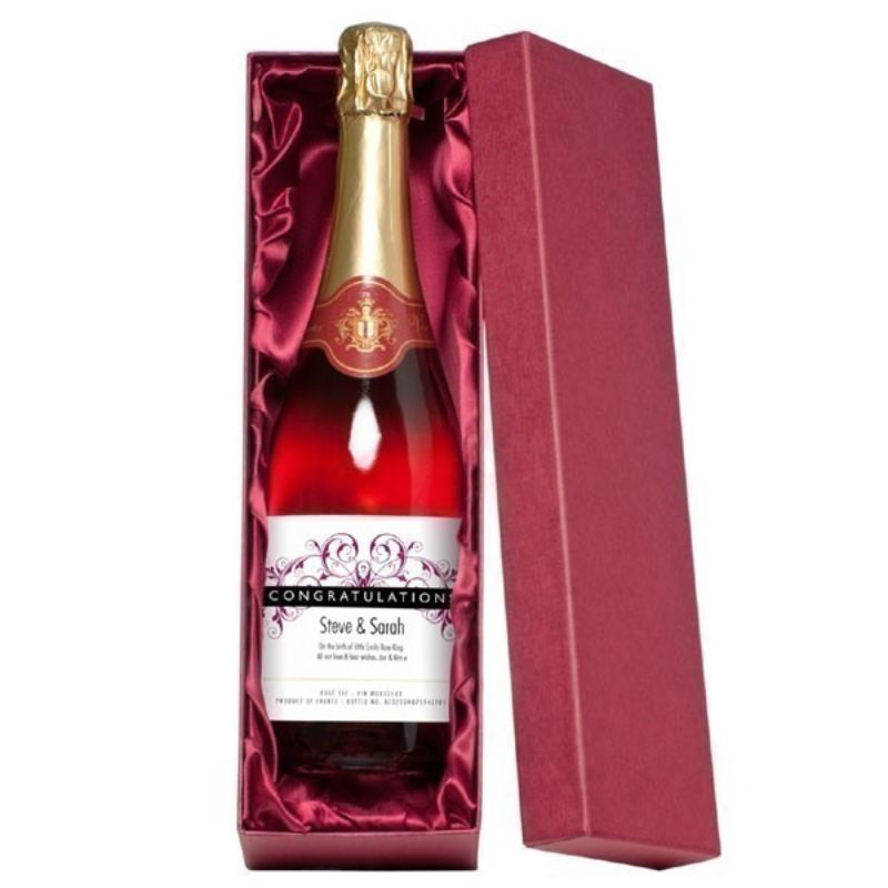 Personalised Congratulations Sparkling Rose Wine product image