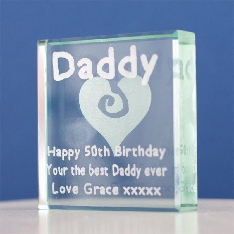 Personalised Daddy Glass Keepsake Product Image