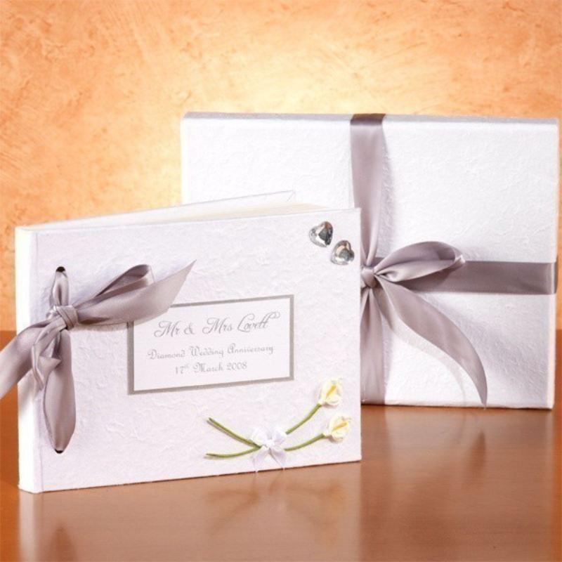 Diamond Wedding Anniversary Gifts For Grandparents: Personalised Diamond Anniversary Photo Album
