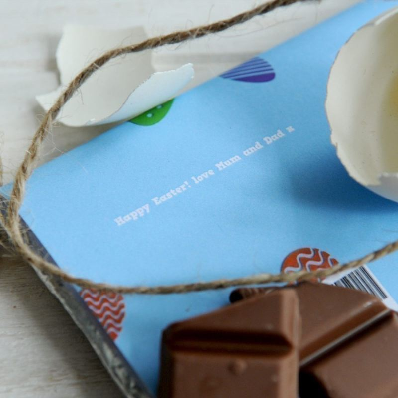 Personalised Easter Chocolate Bar product image