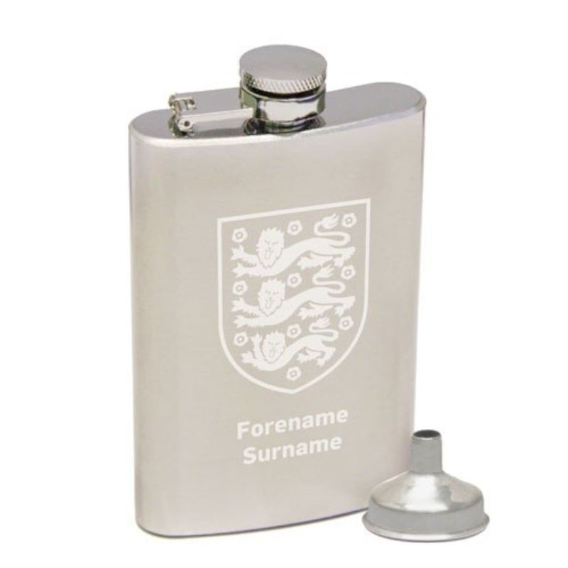 Personalised England Crest Hip Flask product image