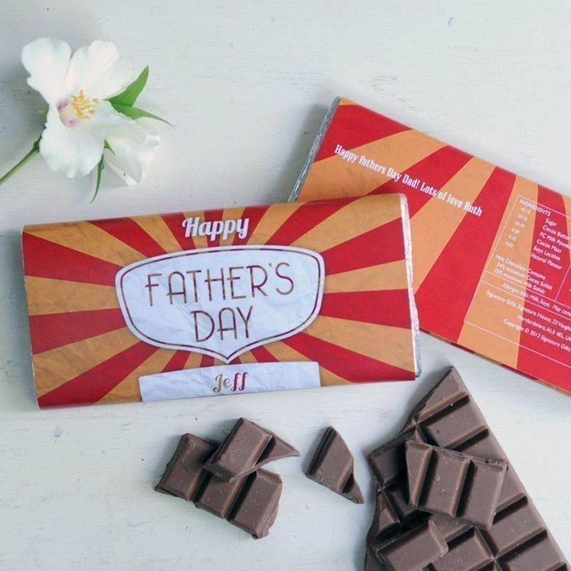 Personalised Father's Day Chocolate Bar product image