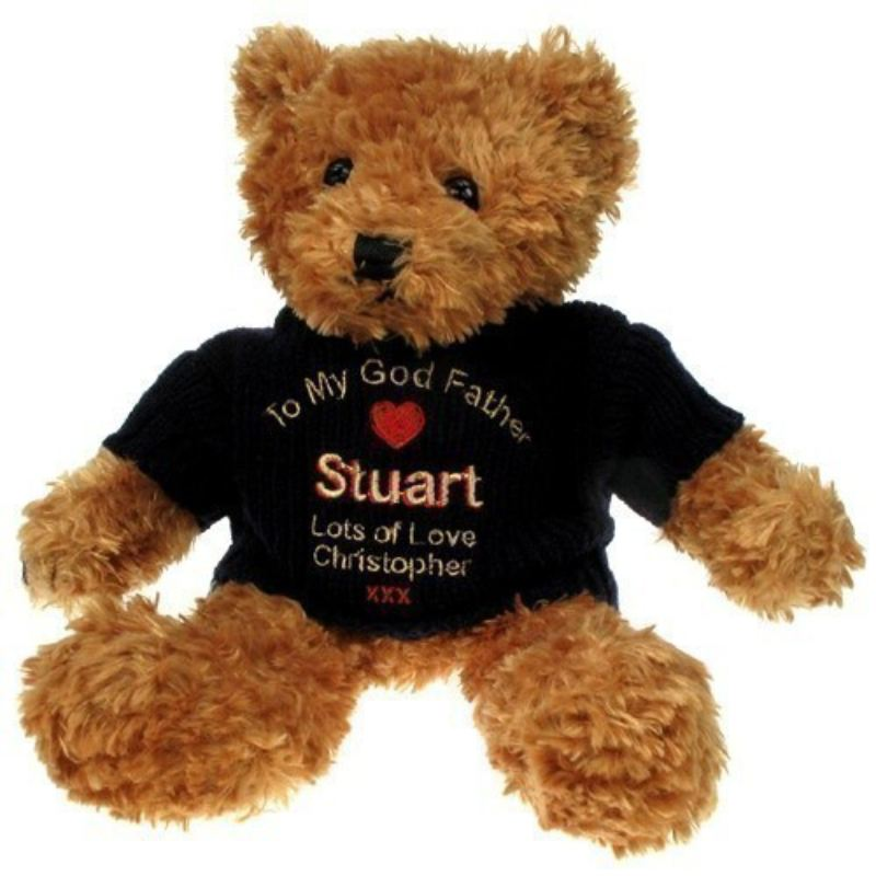 Personalised God Father Brown Teddy Bear product image