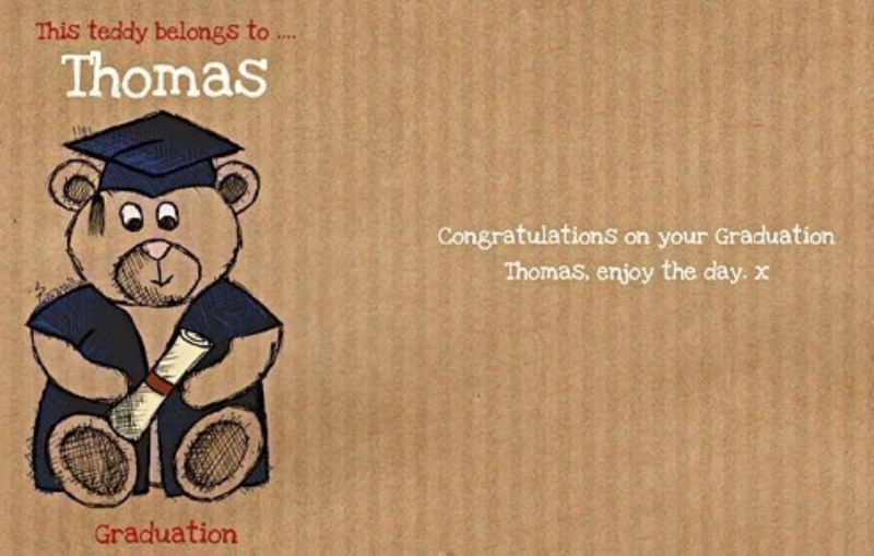 Personalised Graduation - Teddy in a Tin product image