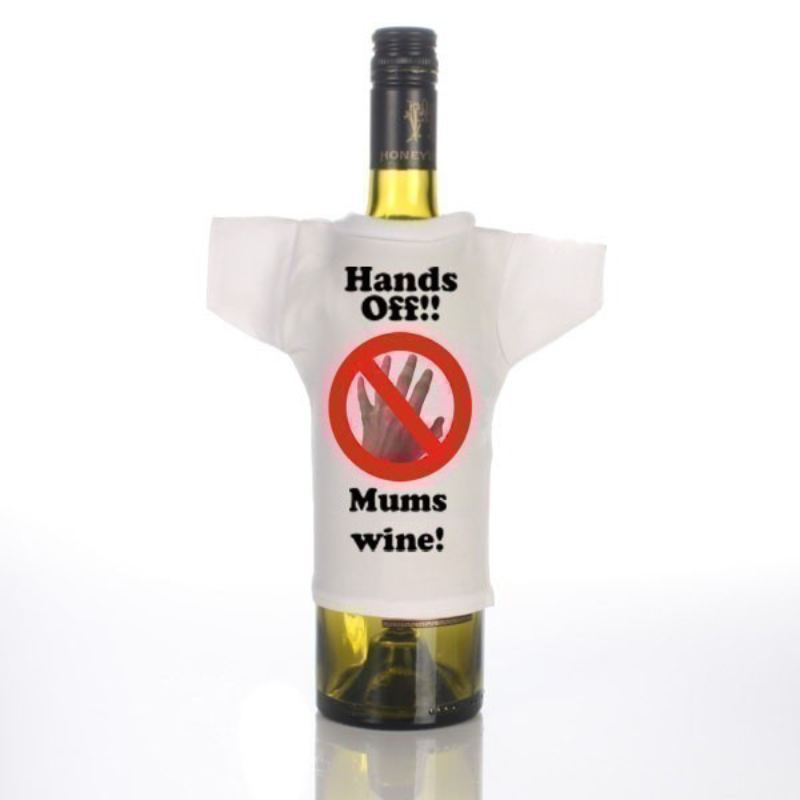 Personalised Hands off Wine Bottle T-Shirt product image
