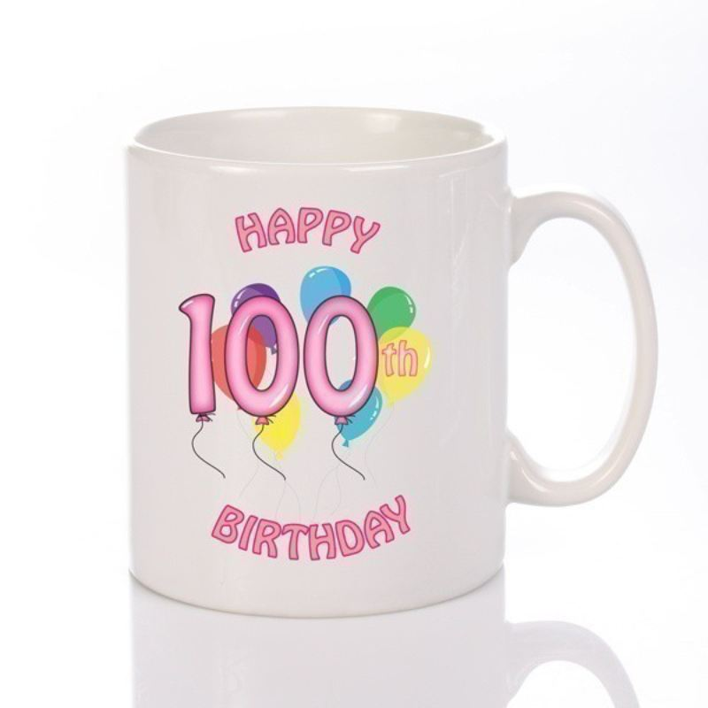 Personalised Happy 100th Birthday Girl Mug product image